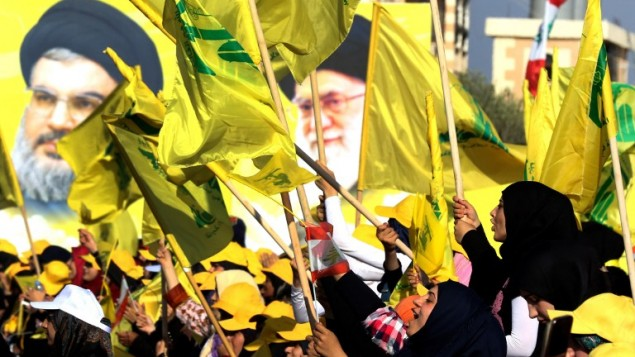 Hezbollah rally in Bint Jbeil, Lebanon (Source: AFP)