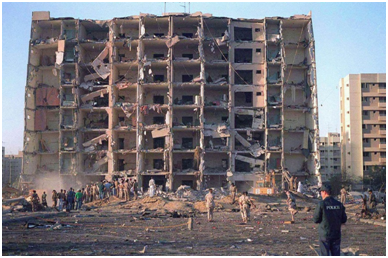 Iran was responsible for the 1996 Khobar Towers bombing which killed 19 American servicemen based in Dhahran, Saudi Arabia.