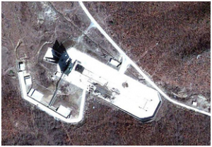 Satellite imagery of the Tounghae launchpad.