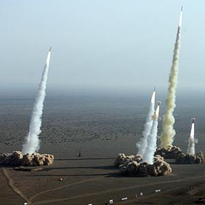 Ballistic missile launch exercises in Iran on November 2, 2006.