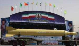 Ghadr-1 ballistic missile on display during a 2009 Iranian military parade (Atta Kenare/AFP/Getty Images).