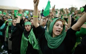 Women of the 2009 Green Movement Uprising.