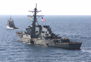Following the bombing of the USS Cole (pictured) in 2000, Iran attempted to strengthen its relations with Al Qaeda.